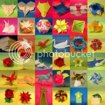 Mosaico de Fotos de Origami de Norberto Kawakami