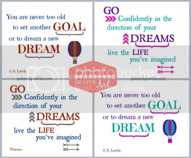 Printable Quote Art via Spit and Sparkles Blog #inspiration #graduation #quote #wallart #followyourdreams