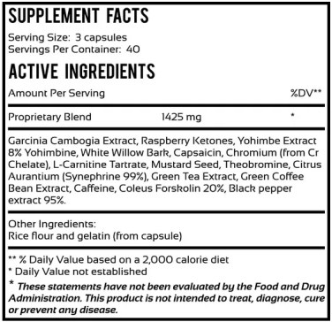 fat burner superior ingredients