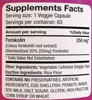 forskolin extract ingredients