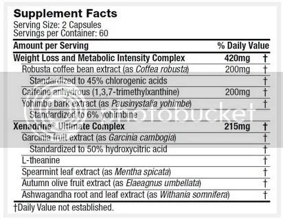 xenadrine ingredients