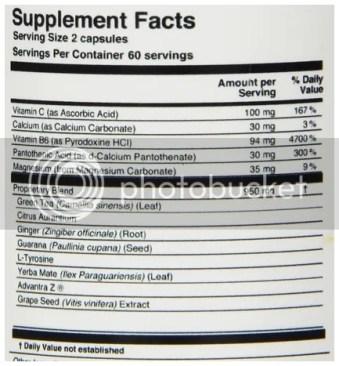 Oxy5001 mega thermogenic ingredients