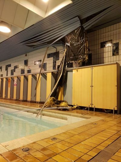 Parents' horror as ceiling COLLAPSES above children at ...