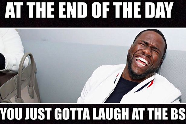 Kevin Hart shares meme about  laughing at the BS  following claims     He shared this meme on Wednesday  Image  Instagram kevinhart4real