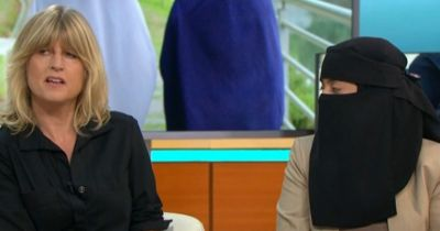 Piers Morgan asks Muslim woman to take off her full face veil during heated 'ban the burka ...