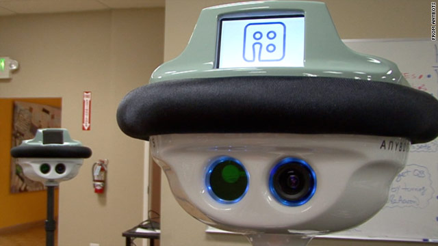 The QB robot from Anybots, available this fall, lets employees work from home through a robot proxy.