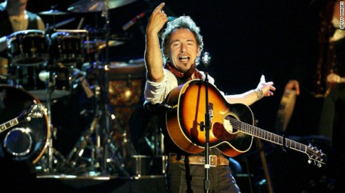 Springsteen performs with the E Street Band in Frankfurt, Germany, in May 2006. The singer is generally known as inspiring and upbeat, but there's also an angry side to him.