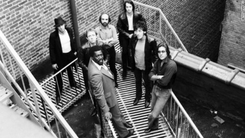 The singer and the E Street Band -- clockwise, top right, Garry Tallent, Springsteen, Max Weinberg, Clarence Clemons, Danny Federici, Roy Bittan and Steve Van Zandt in Red Bank, New Jersey, in 1979.