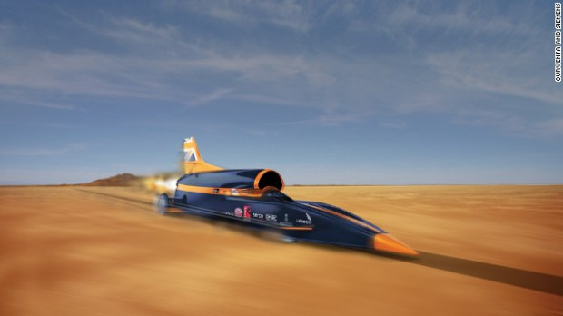 Rocket for supersonic 'hybrid car' passes first test