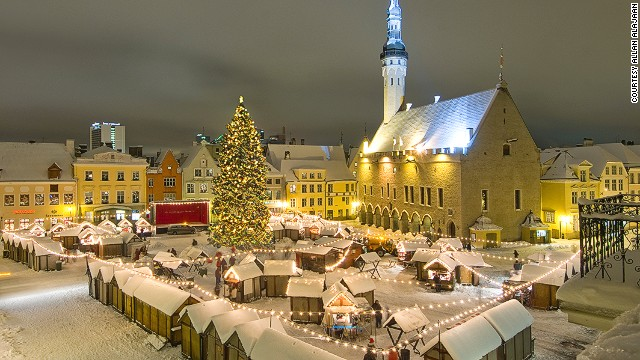 Tallinn Christmas market in the Town Hall Square