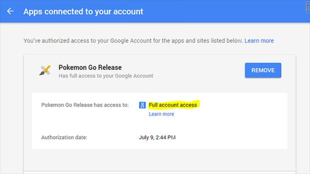 pokemon go email access