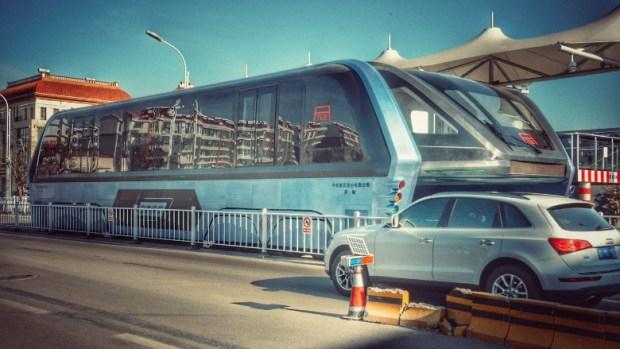 China elevated bus abandoned 4