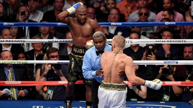 Mayweather defeats McGregor by TKO