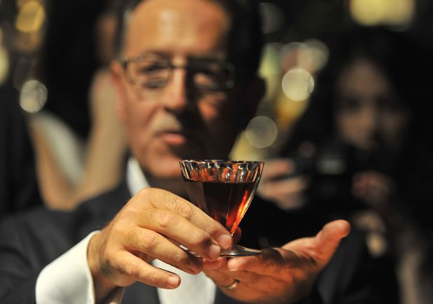 Salvatore Calabrese, ingredients used include 40ml 1778 Clos de Griffier Vieux Cognac, 20ml 1770 Kummel Liqueur, 20ml circa 1860 Dubb Orange Curacao and 1900s Angostura Bitter. The cocktail was mixed and sold to an unidentified patron at Salvatore's bar at London's Playboy Club