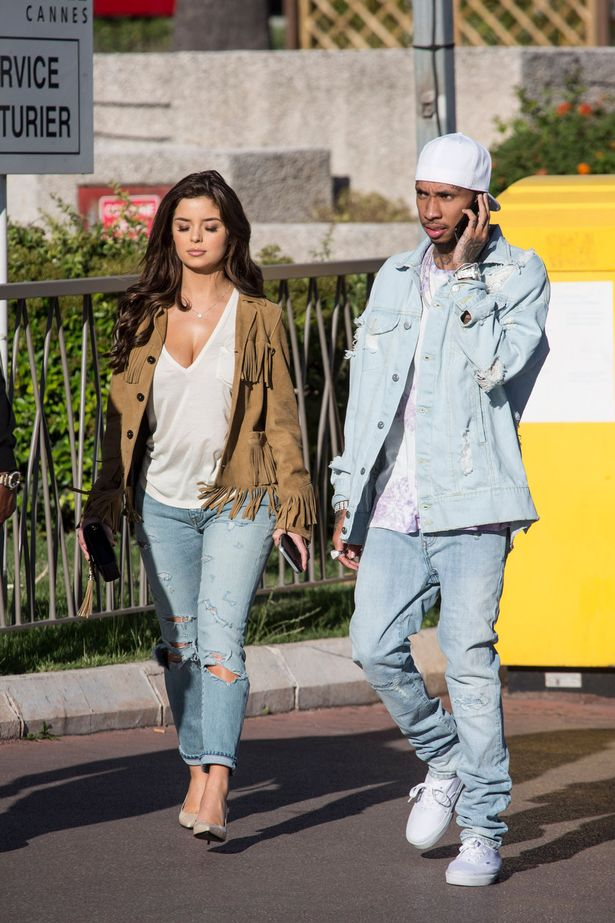 Tyga and girlfriend Demi Rose enjoy a stroll in Cannes