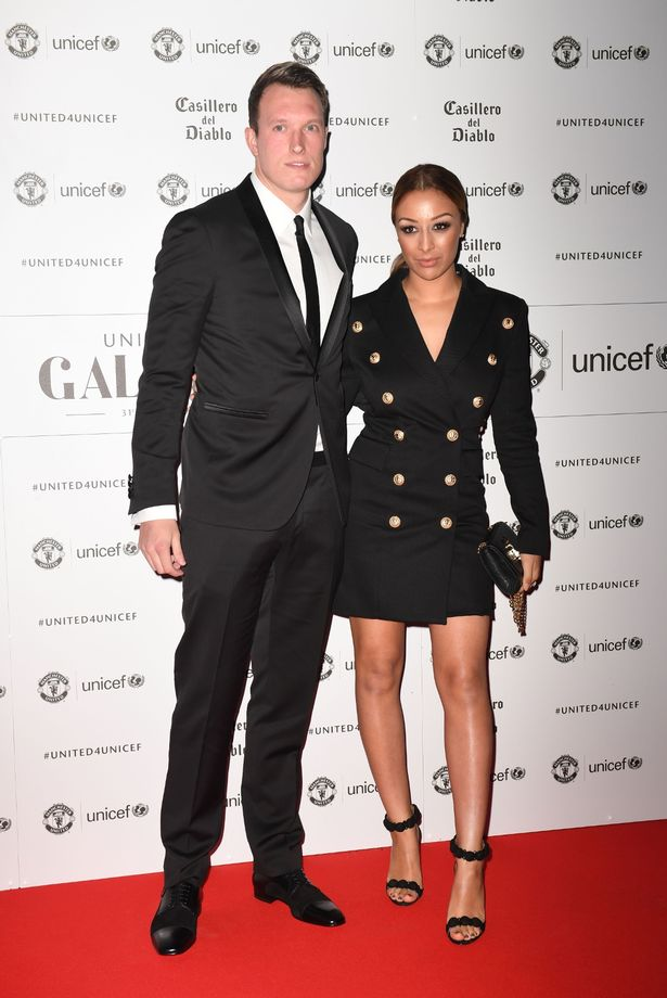 Phil Jones and partner Kaya Hall