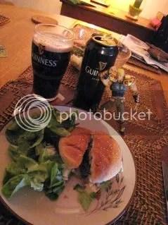 Burger et salade