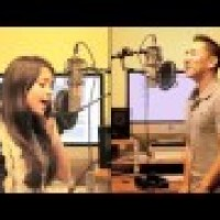 Megan Nicole and Jason Chen - Cover Raise Your Glass-Pink