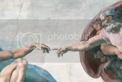 Michelangelo's Creation of Adam Pictures, Images and Photos