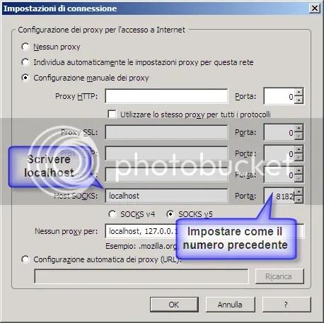 Configurazione di Firefox per un proxy 2