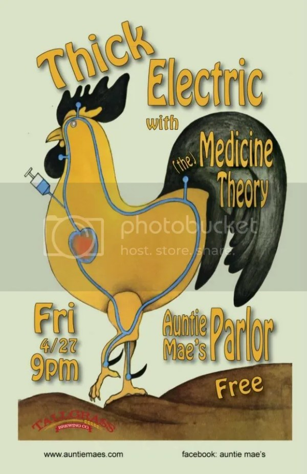 thick electric medicine theory free music fridays auntie maes parlor