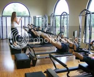 Pilates Reformer photo: Me teaching at my Pilates studio! RefomerClass.jpg