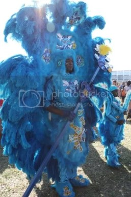 New Orleans Mardi Gras Indians make elaborate costumes every year