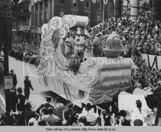 Krewe of Rex Parade Mardi Gras 1940s