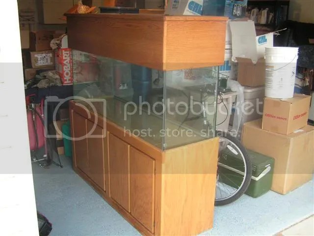 100 gallon tank, stand, canopy, and lighting for sale   Reef Central