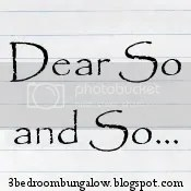 Dear So and So...