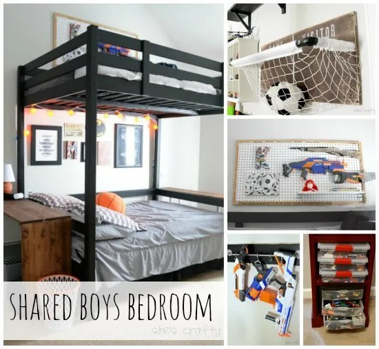 love her shared boys bedroom ideas she has great organizing ideas