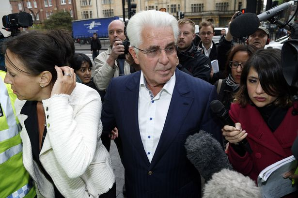 Accused: Max Clifford arrives at Westminster Magistrates' Court