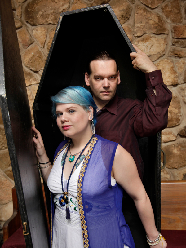 Michael Vachmiel and Blut Katzchen photographed at a fellow vampire's home in Houston