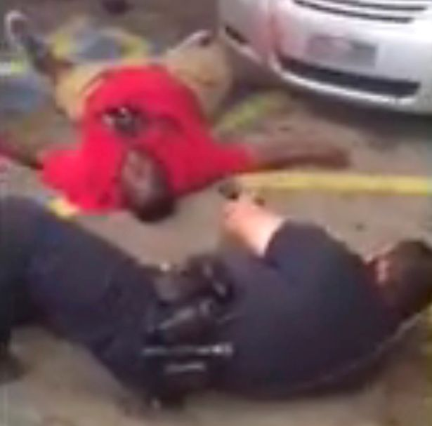 Alton Sterling as he is shot dead by police during an incident captured on the mobile phone camera of shop owner Abdullah Muflahi in Baton Rouge, Louisiana, U.S. July 5, 2016.