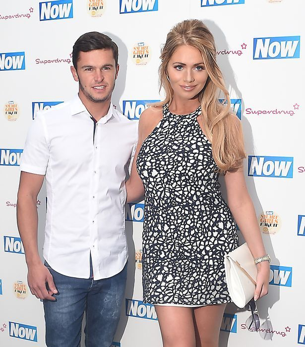 Amy Childs and boyfriend Bradley Wright in 2015
