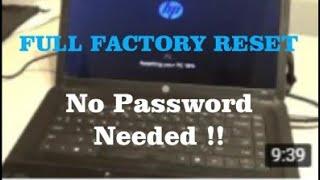 how do i reset my hp laptop windows 8