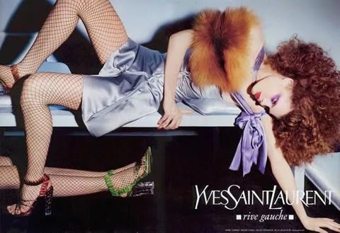 Adina Fohlin for Yves Saint Laurent Rive Gauche ad campaign