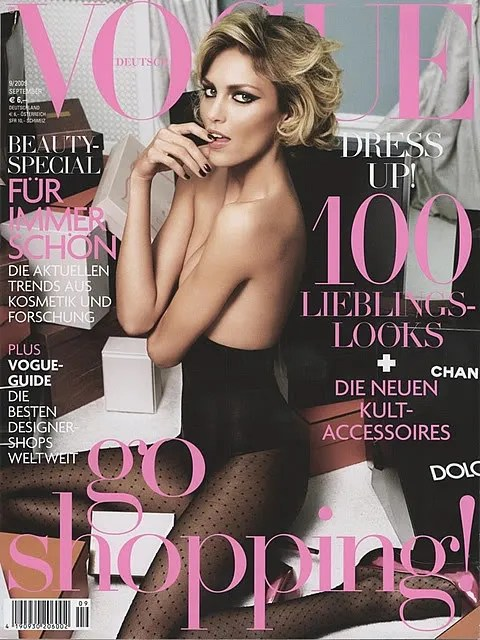 Anja Rubik for Vogue Germany, Vogue Deutsch, September 2009 Cover
