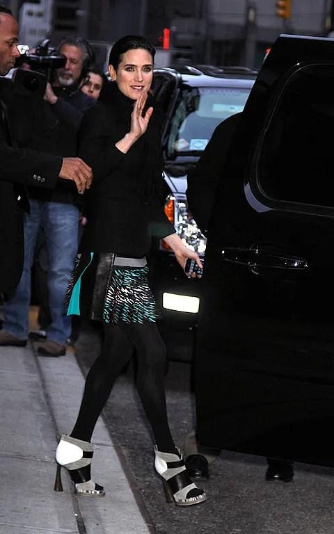 Photo of Jennifer Connelly pics in Balenciaga at David Letterman show