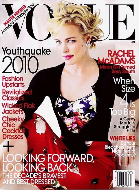Rachel McAdams photo January 2010 Vogue cover