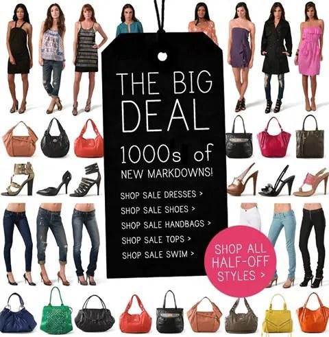 Shopbop sale, free shipping, no promo code needed