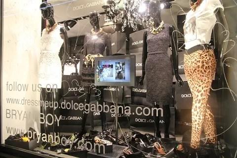 Dolce Gabbana via Spiga 26 windows by Bryanboy