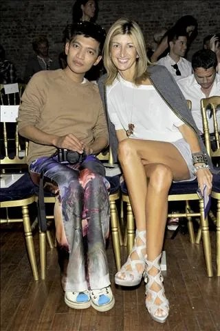Sarah Rutson and Bryanboy at Jason Wu Spring Summer 2011