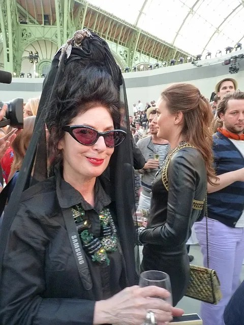 Diane Pernet at Chanel Haute Couture Fall Winter 2010