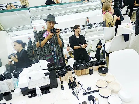 Bryanboy backstage at Chanel spring/summer 2011 fashion show