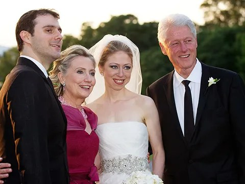 Chelsea Clinton Wedding Pics - dress by Vera Wang