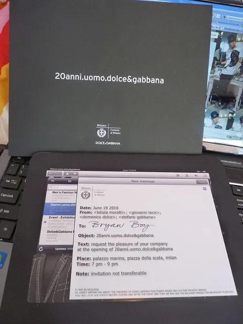 Dolce & Gabbana 20 years Anniversary Piazza della Scala