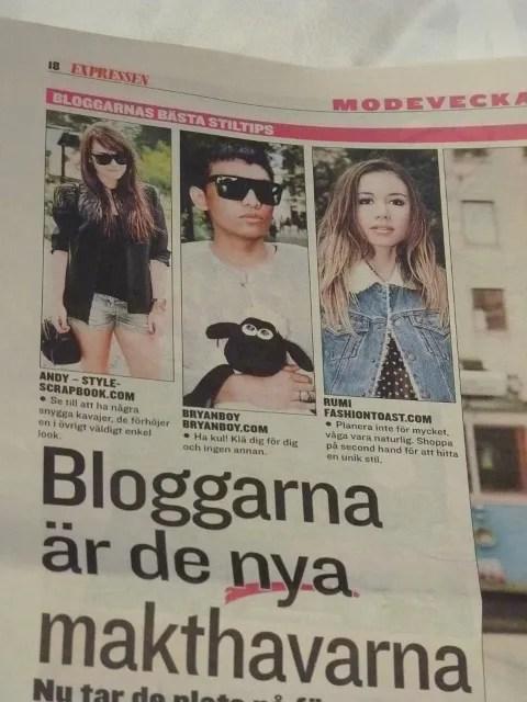 Fashion bloggers at Expressen, Sweden