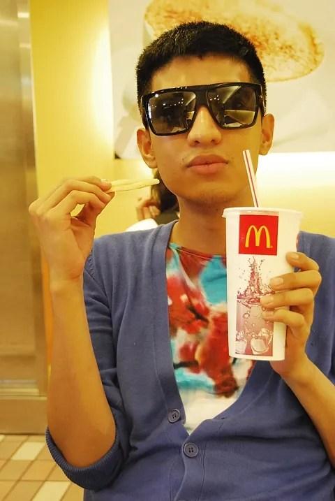 Bryanboy at Hello Kitty McDonald's Taipei, Taiwan