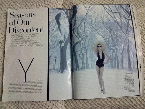 Karlie Kloss for US Vogue May 2010 - Seasons of Our Discontent